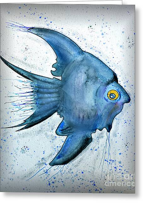 Startled Fish Greeting Card by Walt Foegelle