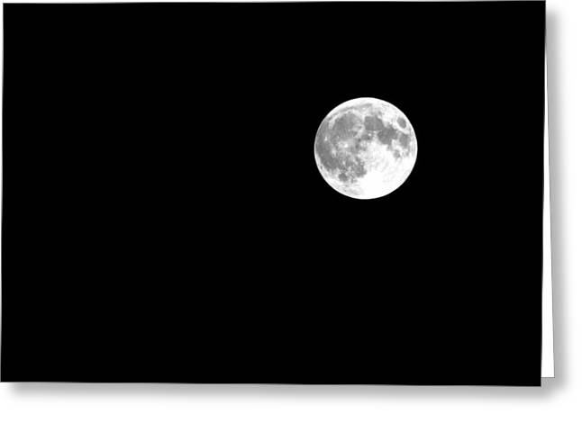Startled Moon Greeting Card