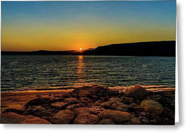 Starvation Sunset Greeting Card by TL  Mair
