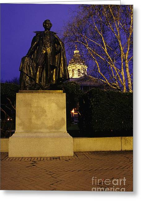 State Capitol Building - Concord New Hampshire Usa Greeting Card by Erin Paul Donovan