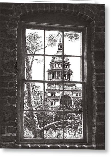 State Capitol Of Texas Greeting Card by Norman Bean