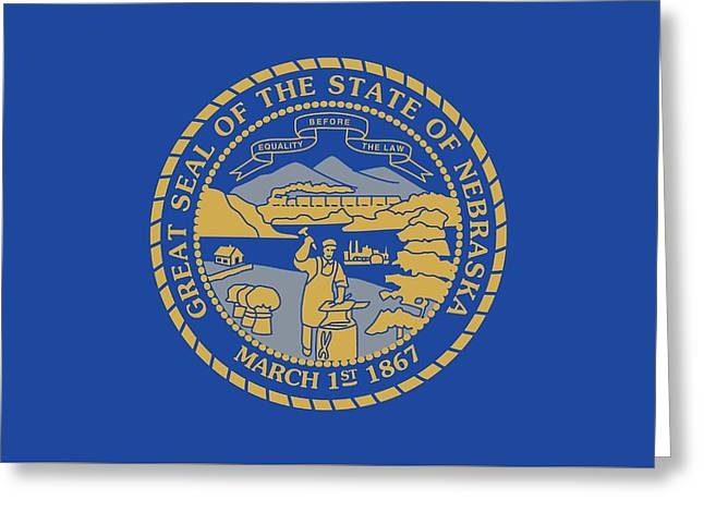 State Flag Of Nebraska Greeting Card by American School