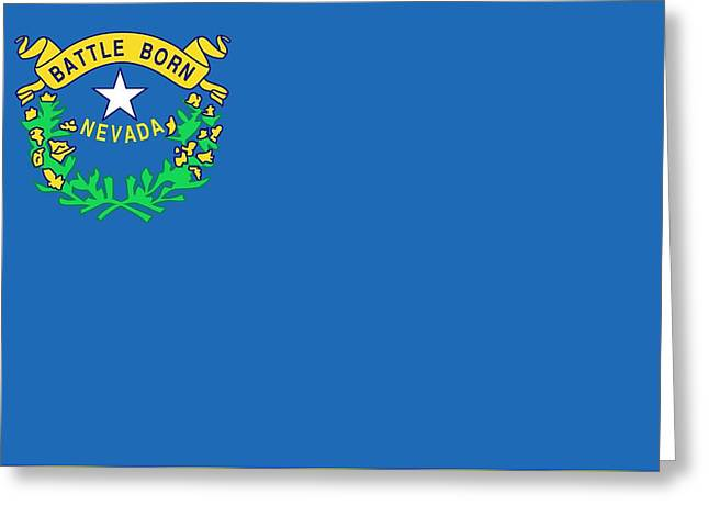 State Flag Of Nevada Greeting Card