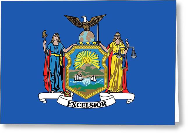 State Flag Of New York Greeting Card by American School