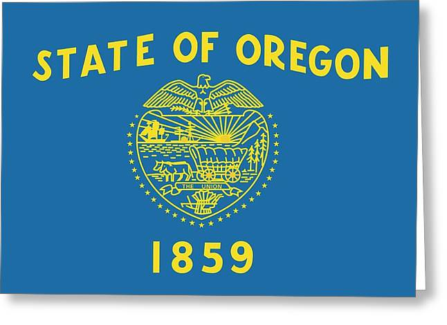 State Flag Of Oregon Greeting Card by American School