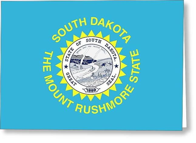 State Flag Of South Dakota Greeting Card by American School