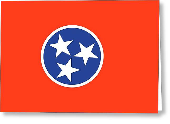 State Flag Of Tennessee Greeting Card by American School