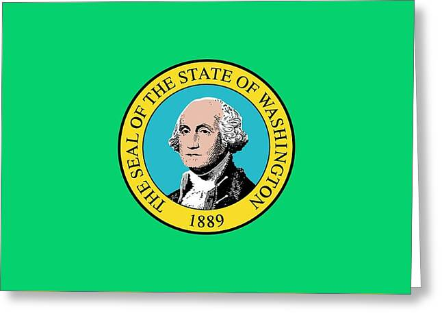 State Flag Of Washington Greeting Card by American School