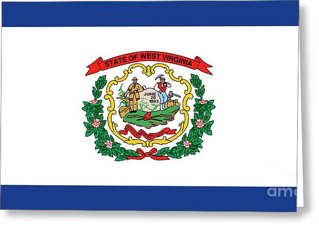 State Flag Of West Virginia Greeting Card by American School