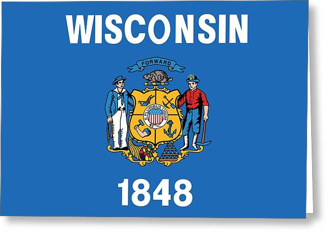 State Flag Of Wisconsin Greeting Card by American School