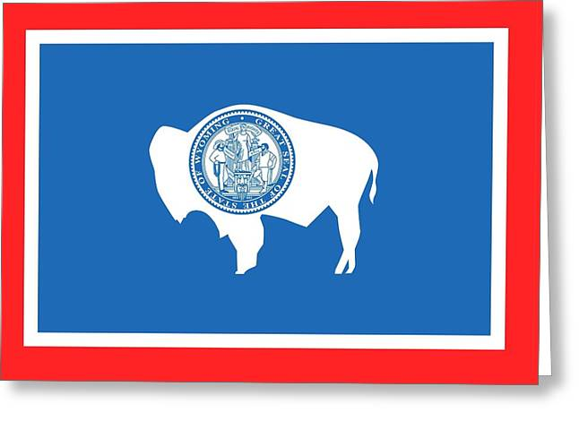 State Flag Of Wyoming Greeting Card by American School