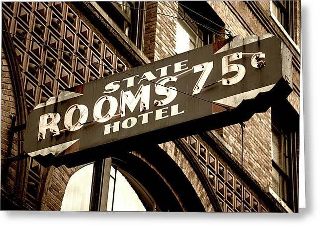 State Hotel - Seattle Greeting Card by Stephen Stookey
