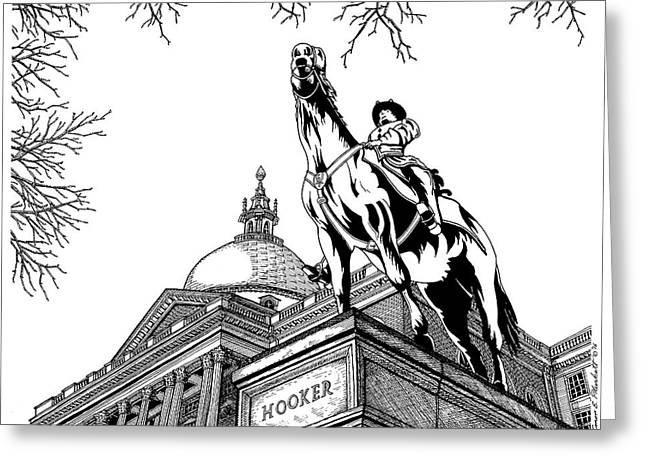 State House, Boston, Ma Greeting Card by Conor Plunkett