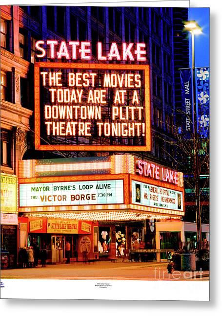 State-lake Theater Greeting Card