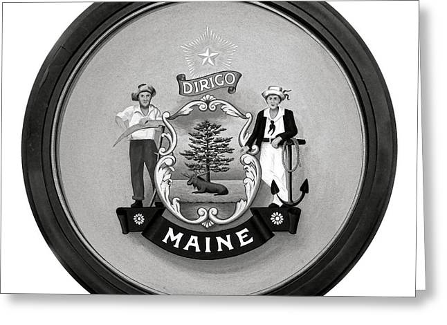 State Of Maine Seal Greeting Card by Olivier Le Queinec