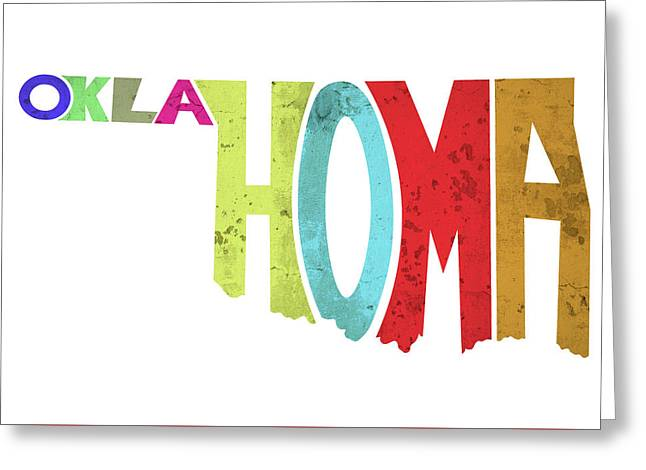 State Of Oklahoma Typography Greeting Card