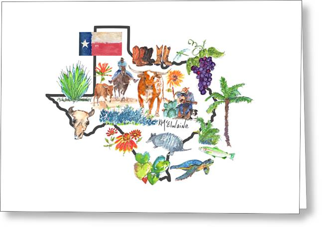 State Of Texas As I Know It Greeting Card