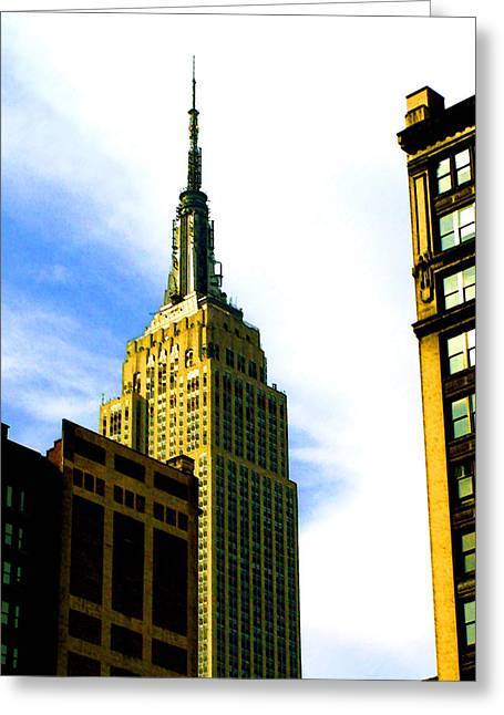 State Of The Empire State Greeting Card by Leonard Rosenfield