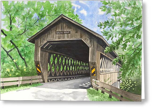 State Road Bridge Greeting Card