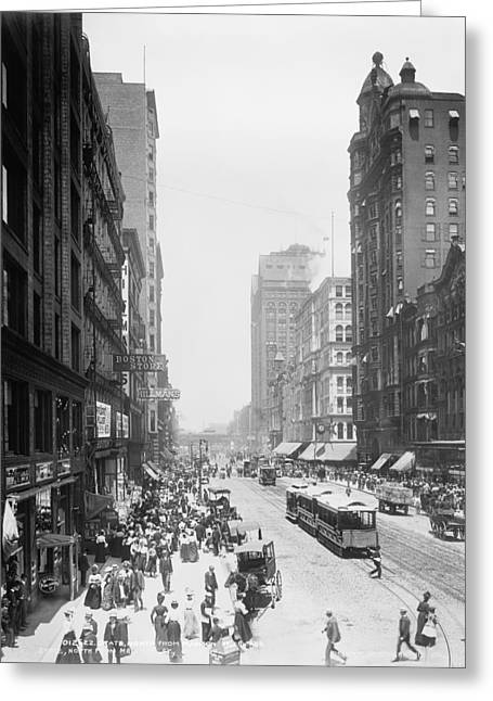 State Street - Chicago 1900 Greeting Card by Daniel Hagerman