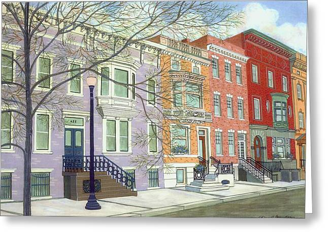 State Street Greeting Card by David Hinchen