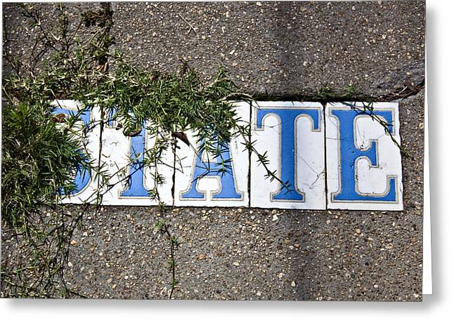 State Street Tiles Greeting Card by Federico Arce