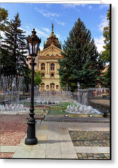 State Theater In The Old Town, Kosice, Slovakia Greeting Card