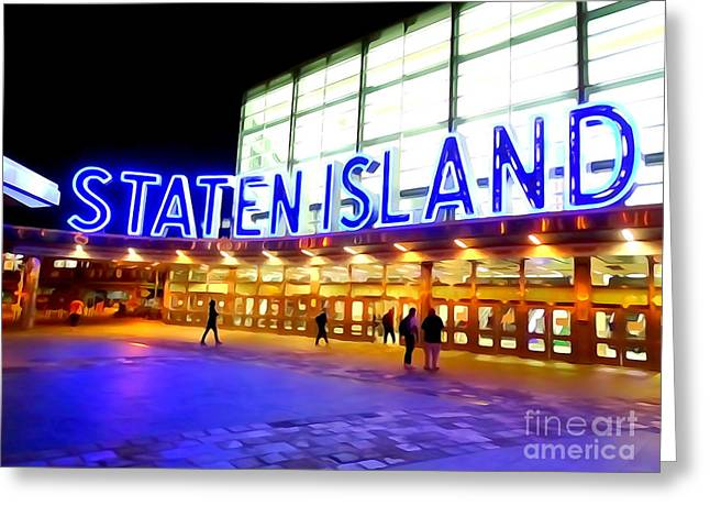 Staten Island Ferry Greeting Card