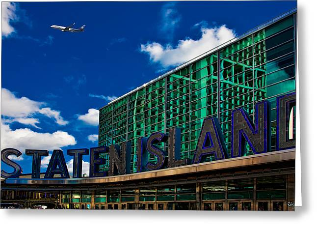 Staten Island Ferry Terminal Greeting Card by Chris Lord