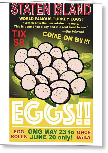 Staten Islands Eggs Greeting Card