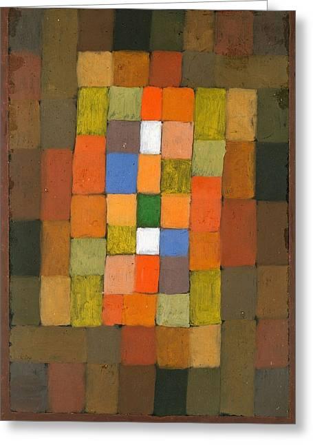 Static Dynamic Gradation Greeting Card by Paul Klee