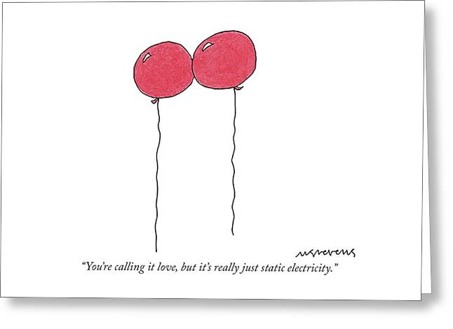 Static Electricity Greeting Card