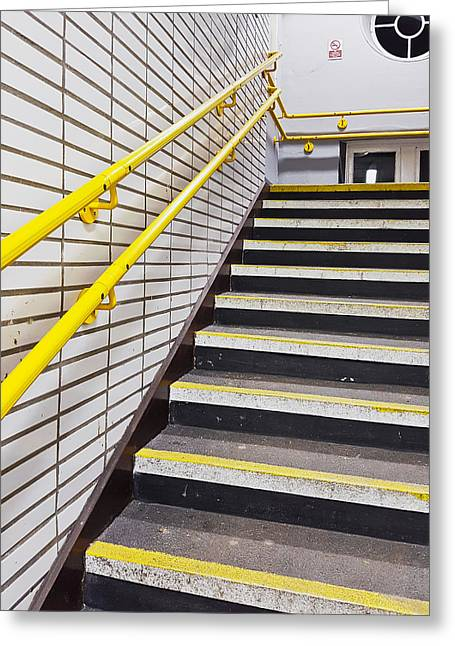 Station Stairs Greeting Card by Tom Gowanlock