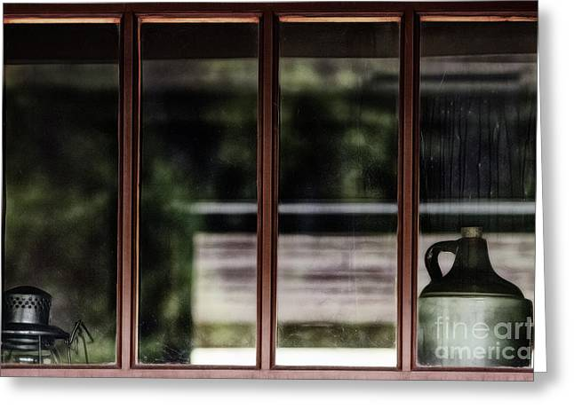 Greeting Card featuring the photograph Station Window by Brad Allen Fine Art