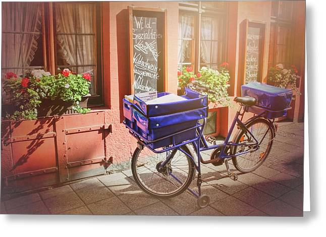 Stationary In Freiburg Greeting Card by Carol Japp