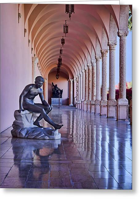 Statue - Loggia Greeting Card