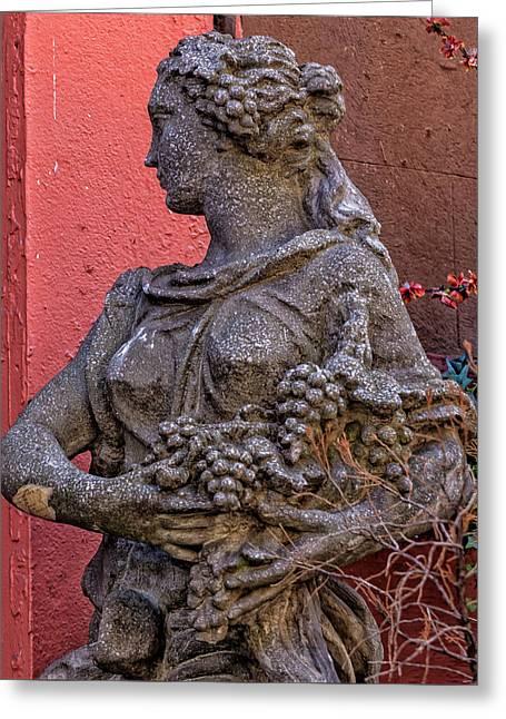 Statue Lower Manhattan Greeting Card by Robert Ullmann
