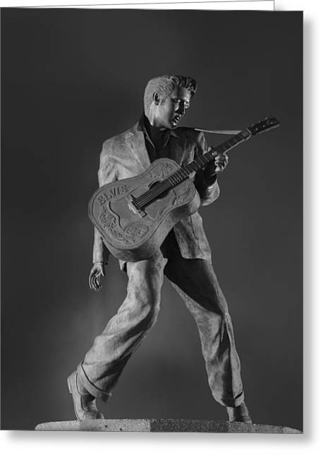 Statue Of A Young Elvis Presley  Greeting Card by Art Spectrum