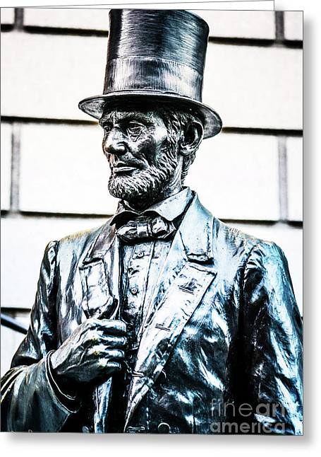 Statue Of Abraham Lincoln #10 Greeting Card by Julian Starks