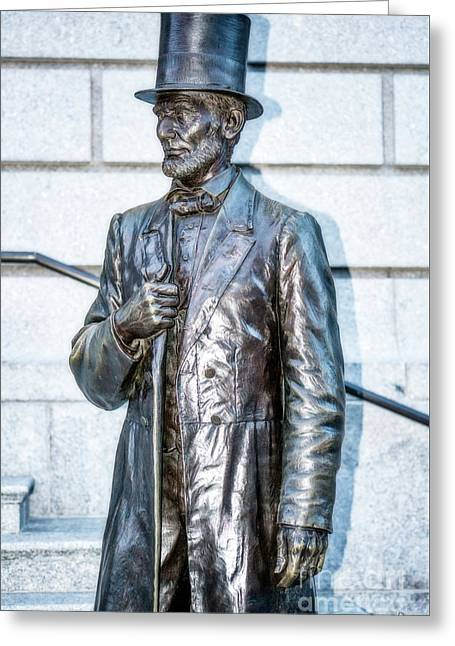 Statue Of Abraham Lincoln #2 Greeting Card by Julian Starks