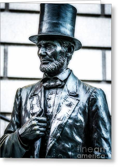 Statue Of Abraham Lincoln #9 Greeting Card by Julian Starks