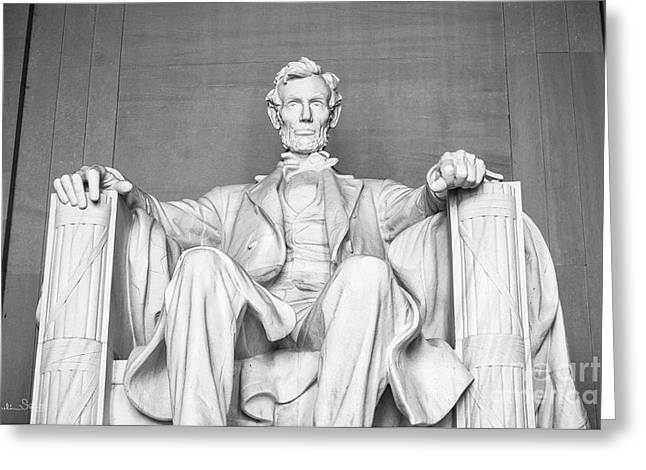 Statue Of Abraham Lincoln - Lincoln Memorial #4 Greeting Card by Julian Starks