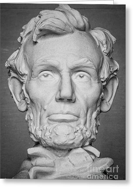 Statue Of Abraham Lincoln - Lincoln Memorial #6 Greeting Card by Julian Starks