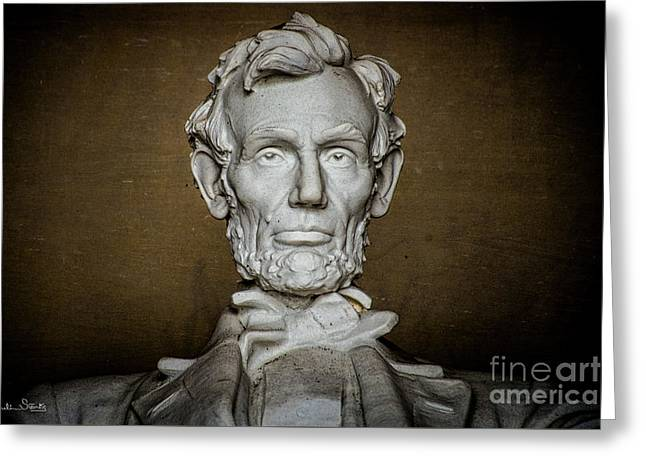 Statue Of Abraham Lincoln - Lincoln Memorial #7 Greeting Card by Julian Starks