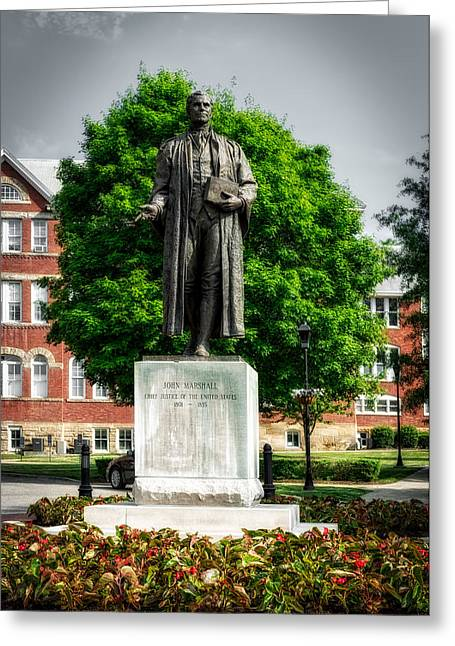 Statue Of Chief Justice John Marshall Greeting Card by Mountain Dreams