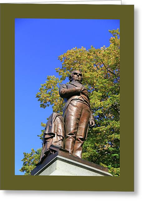 Statue Of Daniel Webster - Central Park # 2 Greeting Card by Allen Beatty
