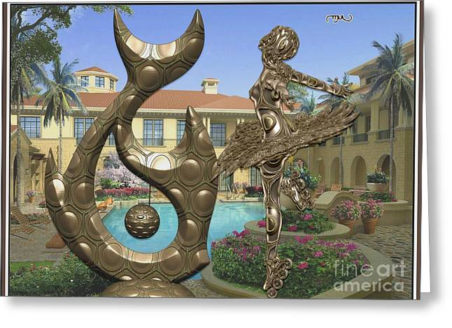 Statue Of Fish And Dancing Girl 1 Greeting Card