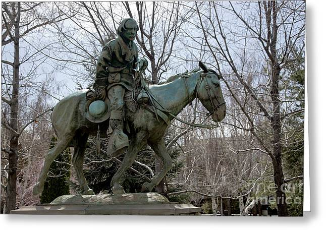 Statue Of Kit Carson Greeting Card