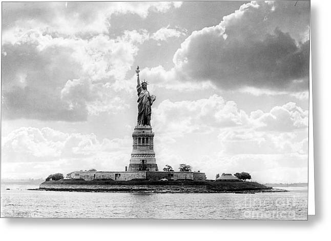 Statue Of Liberty, 1905 Greeting Card