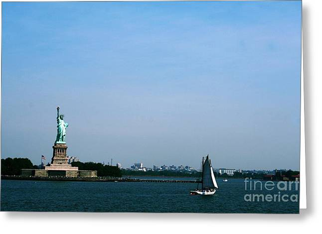 Greeting Card featuring the photograph Statue Of Liberty by The Art of Alice Terrill